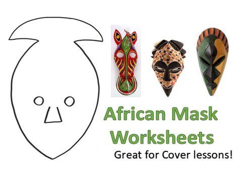 2 KS3 Art African Masks Worksheets