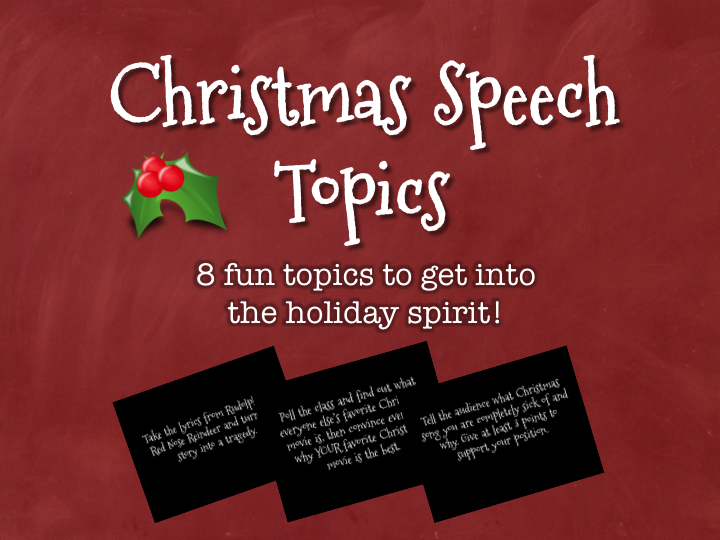 Christmas Speech Topics
