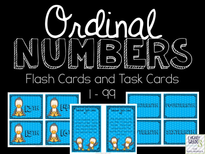 Ordinal Number Centre Activities and Task Cards