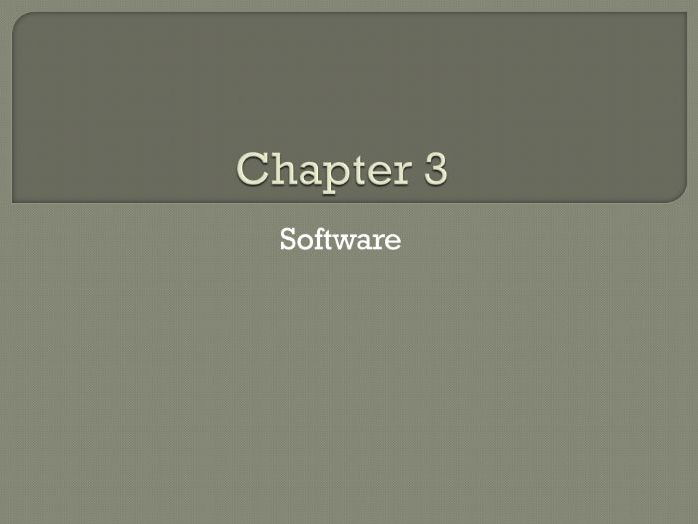 GCSE Computing: Chapter 3 - Software (Revision)