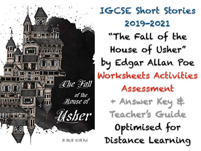 The Fall of the House of Usher - Edgar Allan Poe (IGCSE Short Stories) - Story, Activities + ANSWERS