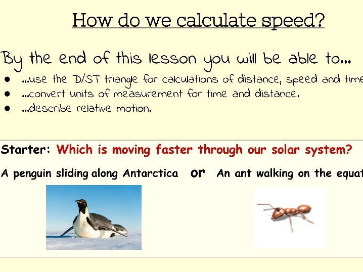 Speed, Relative Motion, and Distance time Graphs.