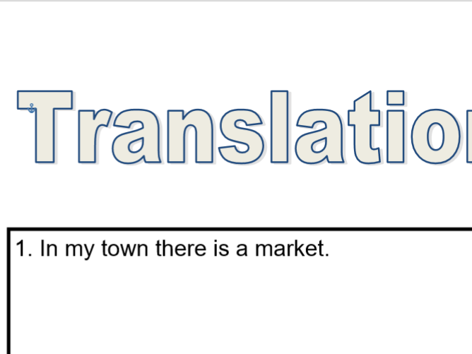 Translation Race - KS3 Town