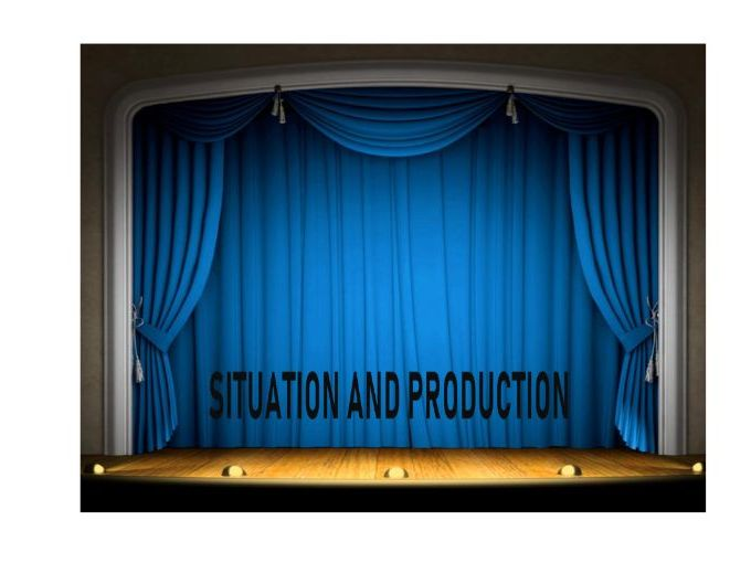 Situation and Production - Powerpoint