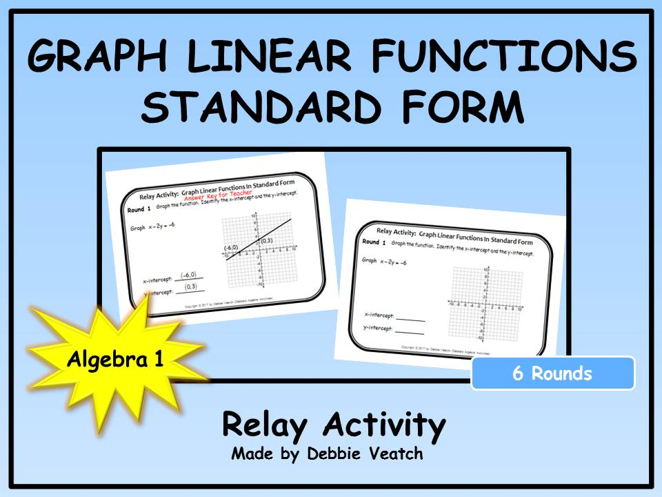 Graph Linear Functions In Standard Form Relay Activity By