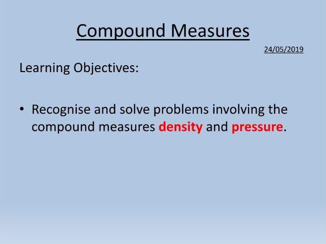 Density - Compound Measures