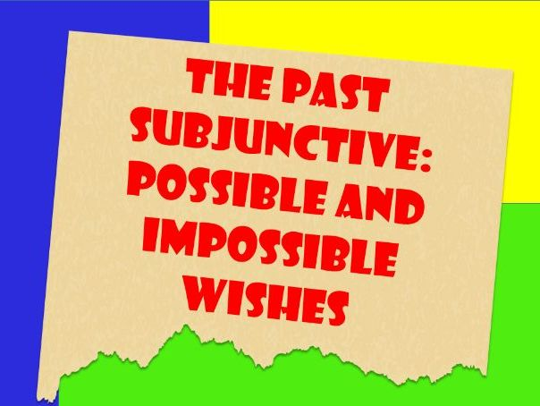 English Past Subjunctive to Express Wishes