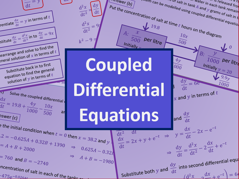 Coupled differential equations - Further maths A level A2