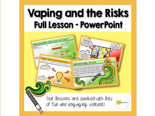 Vaping and the Risks | Full Lesson | Download and Go! | PPT | KS3-4 | PSHE