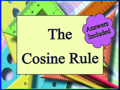 The Cosine Rule - 26 Questions with Answers