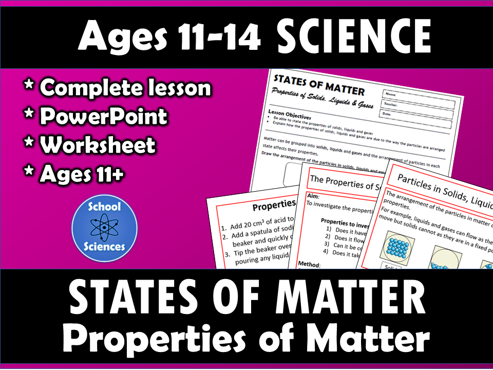 States of Matter: the properties of matter