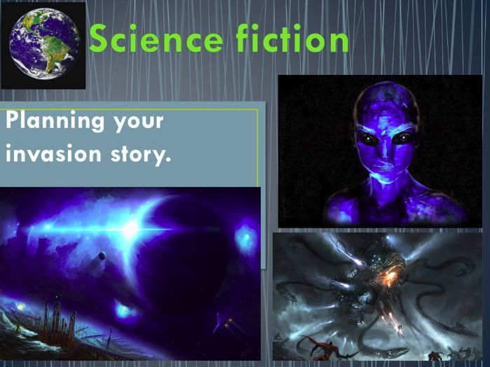 Science Fiction writing - Planning a Science Fiction story (Story Mountain planner)