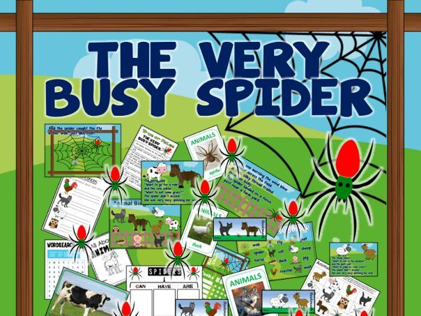 THE VERY BUSY SPIDER TEACHING RESOURCES AND ACTIVITIES