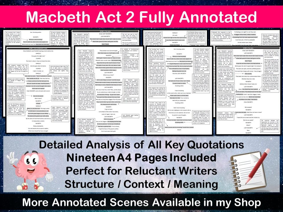 MACBETH ACT 2 FULLY ANNOTATED