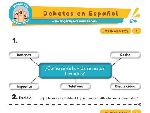 Inventos - Debates in Spanish
