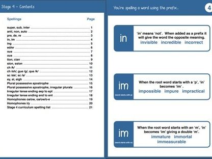 Teaching Prompts - Year 4 Spelling Booklet Primary National Curriculum