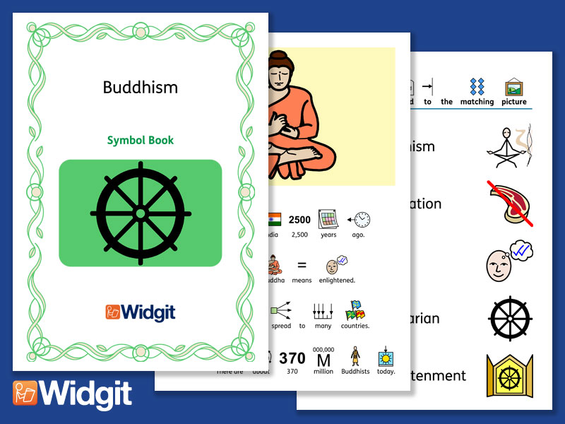 Buddhism - Books and Activities with Widgit Symbols