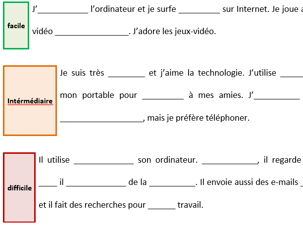 Running dictation on free time and technologie
