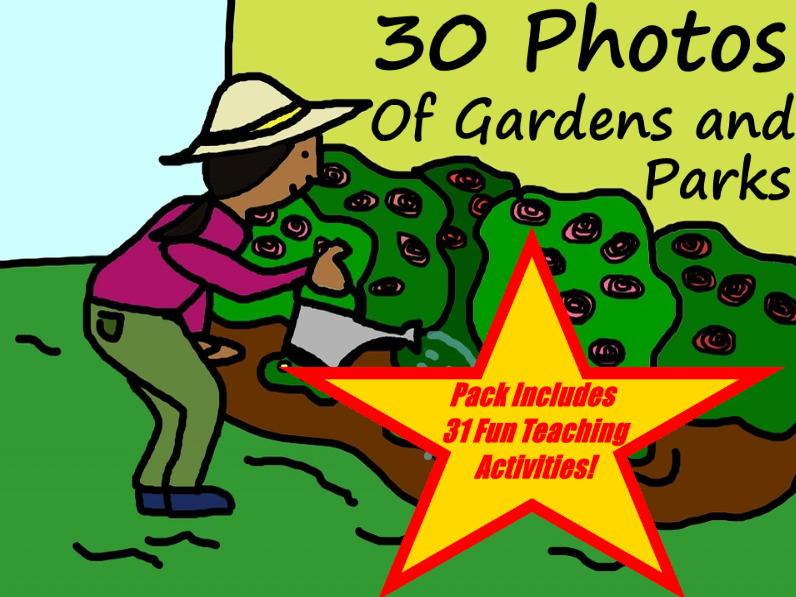 30 Images Of Parks And Gardens PowerPoint Presentation + 31 Fun Teaching Activities For These Cards