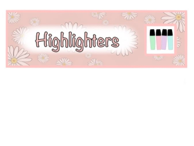 Daisy Print Classroom Resources Labels