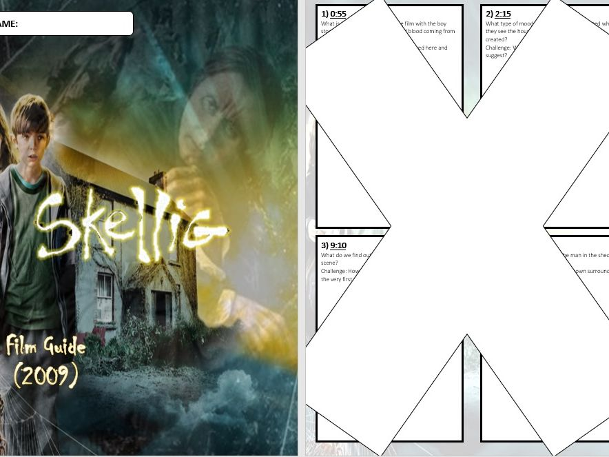 Skellig Film Question Booklet