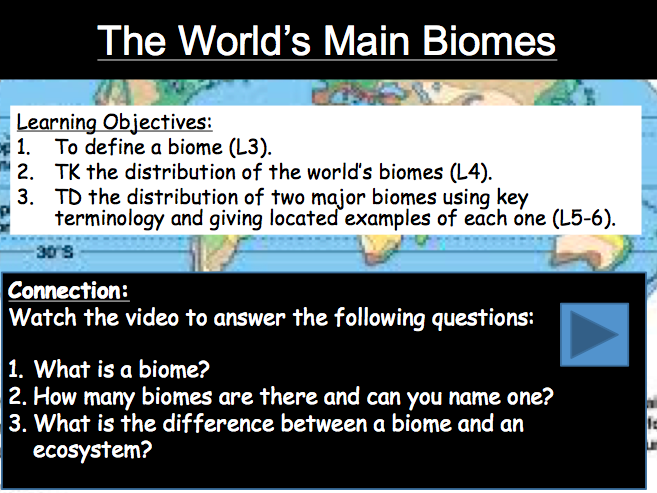 Lesson 2a-b: World Biomes