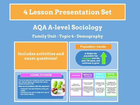 Demography - AQA A-level Sociology - Family Unit - Topic 4