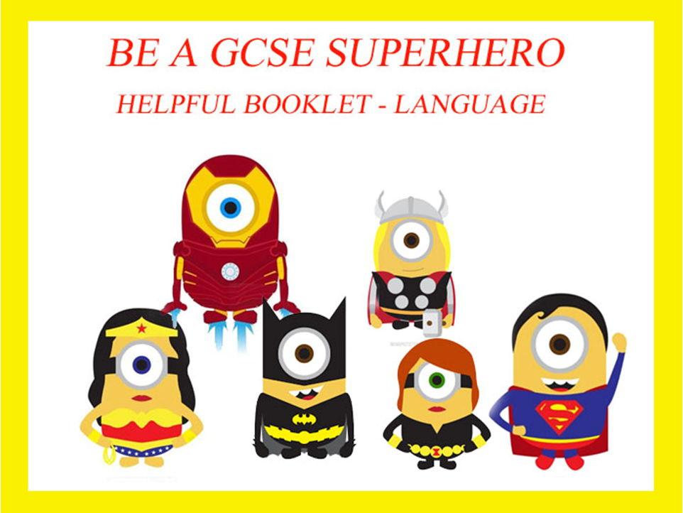 GCSE Language Features booklet - Handout / Support resource