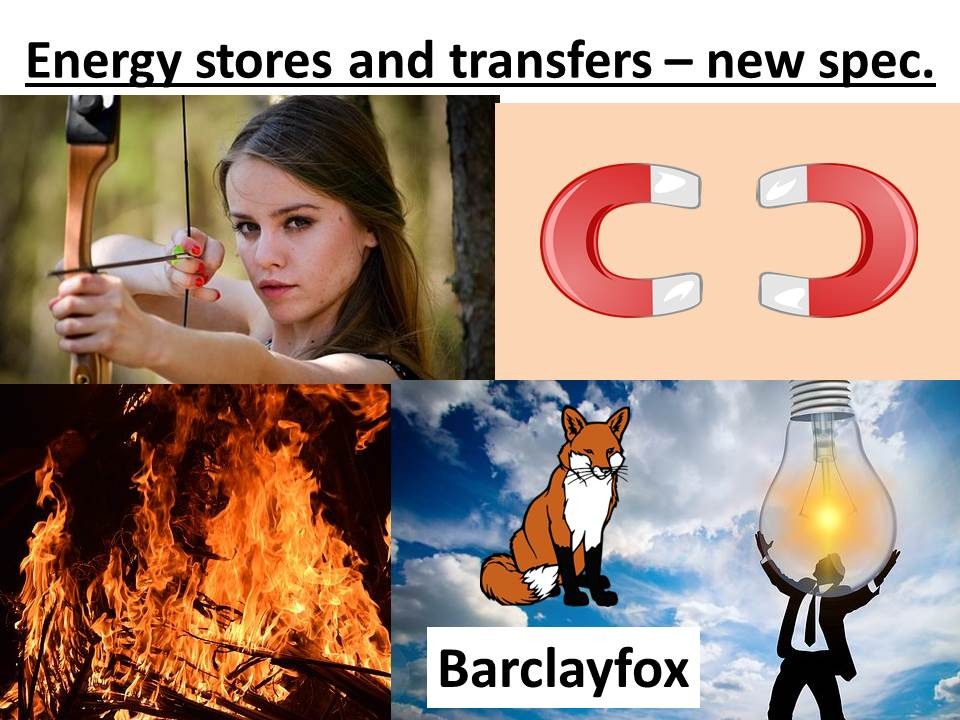 Energy stores and transfers FREE HELP sheet.  New spec 9-1.  Stores, carriers, pathways.
