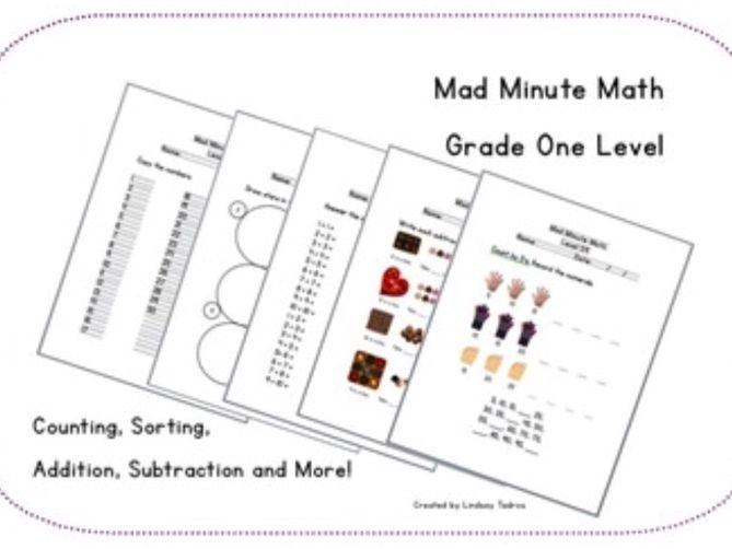 Mad Minute Math - Grade 1