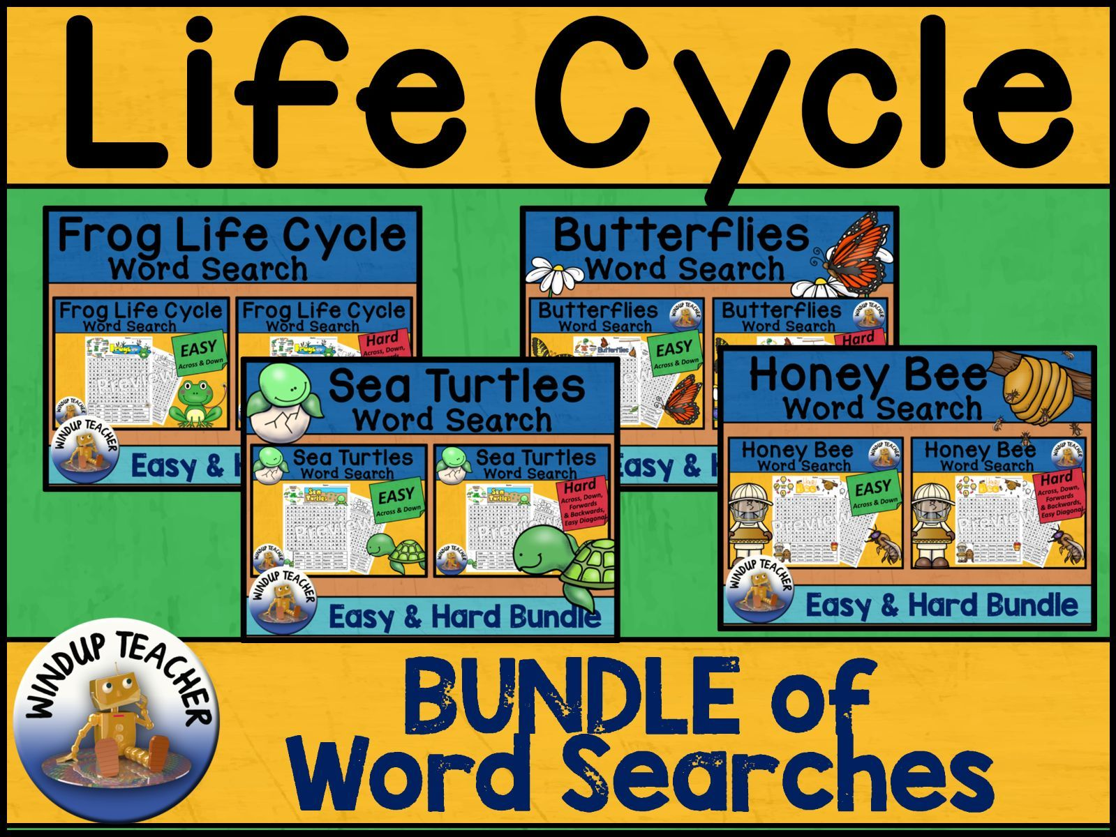 LIfe Cycle Word Search BUNDLE