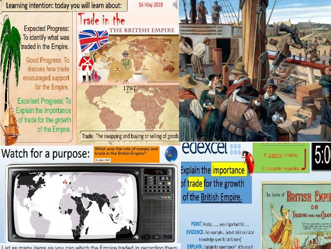 The British Empire: Goods and Trade.
