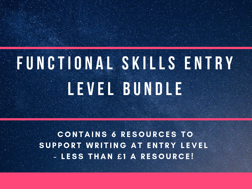Entry level 3 Functional Skills English bundle