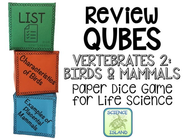 Birds & Mammals Review Qubes for Life Science