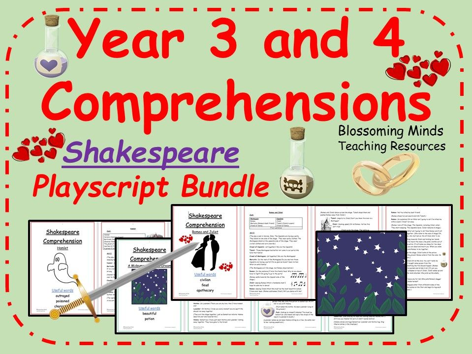Lower KS2 Reading Comprehensions  Bundle - Shakespeare Playscripts