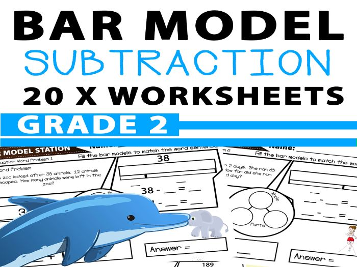 Bar Model Subtraction Word Problems Worksheets - Year 3