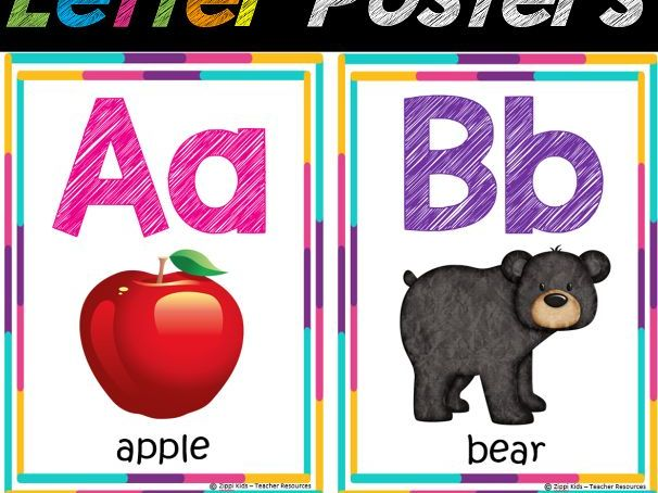 Alphabet/ Letter Posters for Classroom Decor | Alphabet Chart, Back to School
