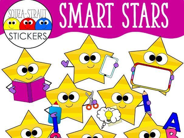 Smart Stars Clip Arts