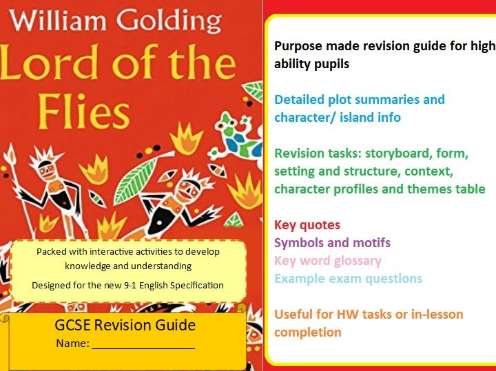 Lord of the Flies Revision Guide for English Literature GCSE (AQA) Paper 2