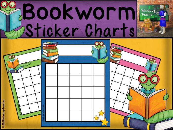 Bookworm Reading Sticker Charts