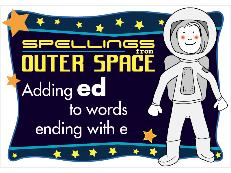 Year 2 Spellings Adding ED to words ending with E