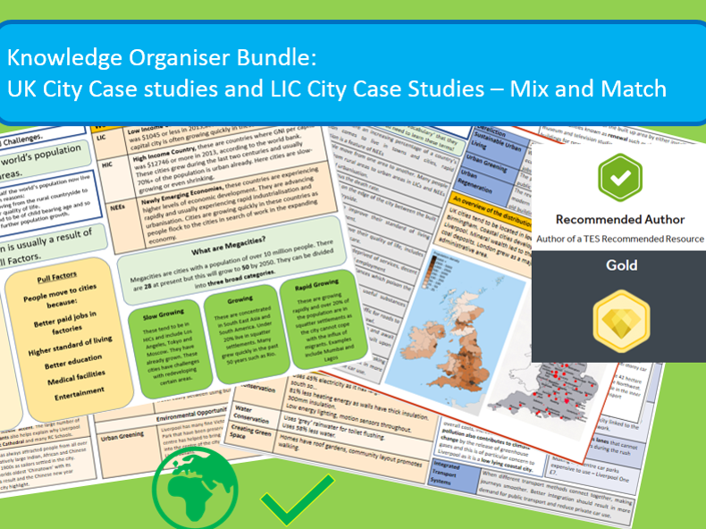 GCSE AQA 9-1: Urban World Case Studies Mix and Match.