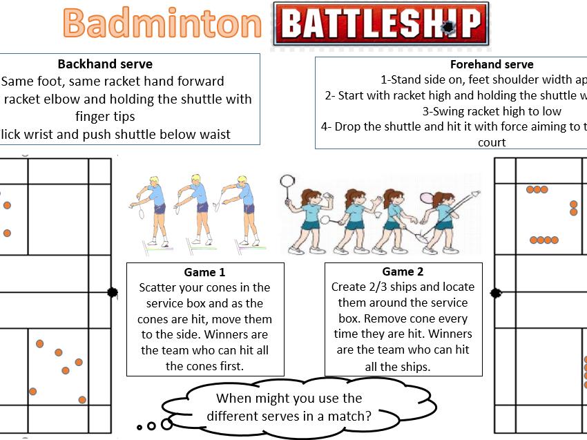 Badminton Battleships
