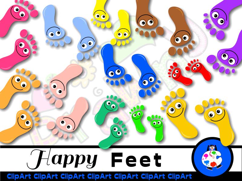 Diverse Happy Feet Clip Art