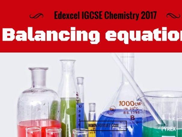 Edexcel IGCSE Chemistry: Balancing equations 1.25
