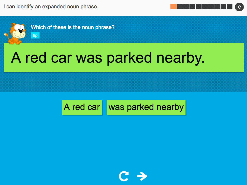 I can identify an expanded noun phrase - Interactive Activity - Year 2 Spag