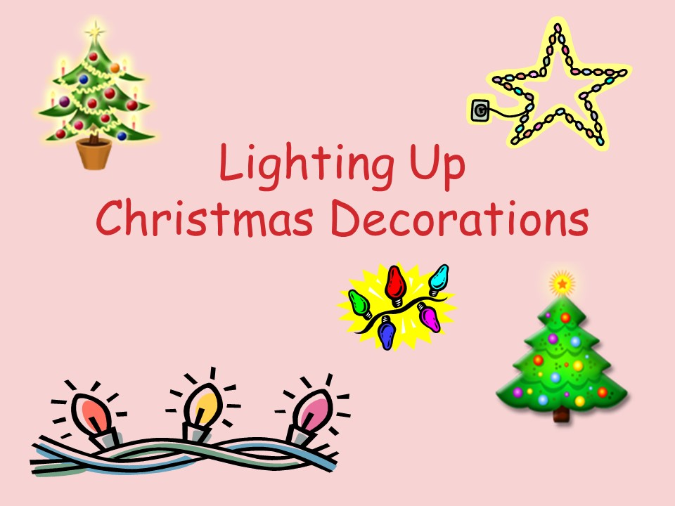 Making a Christmas decoration