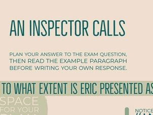 Home School: An Inspector Calls: Example Essay Question and Response