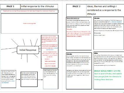 AQA Drama Devising Portfolio Student Guide (Two guides: HAT & LAT)