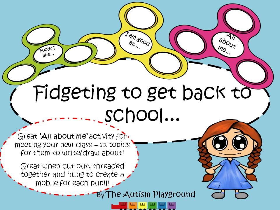 Fidget Spinner 'Back to School' Activity - 'All About Me' Activity Pack,  Great For Class Display!
